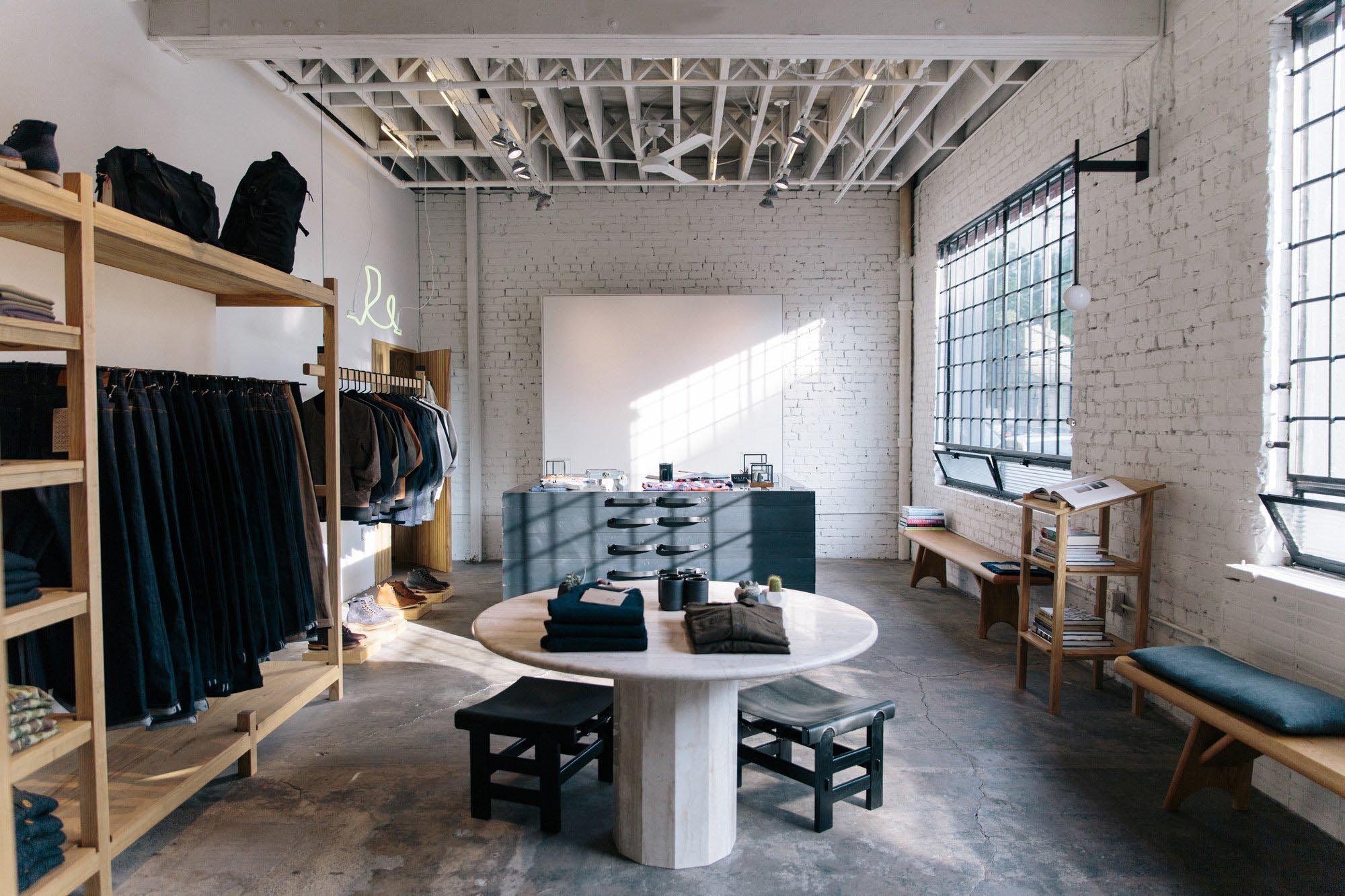 Our Friends At Postmark Helped Design And Develop The Interior Of The New  3Sixteen Flagship Store In LA. They Created Custom Fixtures And Custom  Furniture ...